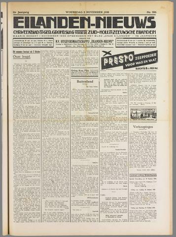 Eilanden-nieuws. Christelijk streekblad op gereformeerde grondslag 1938-11-02