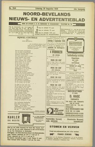 Noord-Bevelands Nieuws- en advertentieblad 1938-08-20
