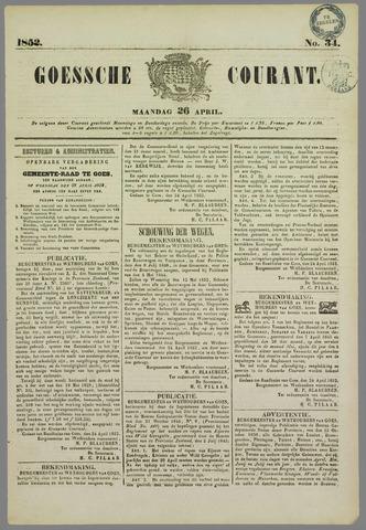 Goessche Courant 1852-04-26