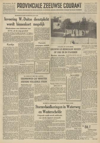 Provinciale Zeeuwse Courant 1954-02-27
