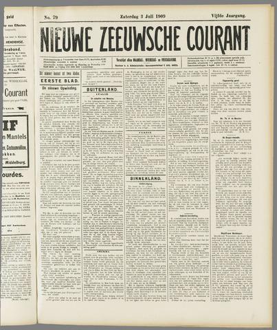 Nieuwe Zeeuwsche Courant 1909-07-03