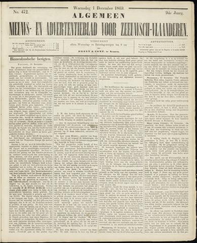 Ter Neuzensche Courant. Algemeen Nieuws- en Advertentieblad voor Zeeuwsch-Vlaanderen / Neuzensche Courant ... (idem) / (Algemeen) nieuws en advertentieblad voor Zeeuwsch-Vlaanderen 1869-12-01
