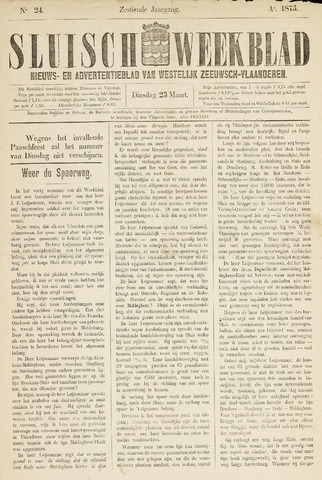 Sluisch Weekblad. Nieuws- en advertentieblad voor Westelijk Zeeuwsch-Vlaanderen 1875-03-23