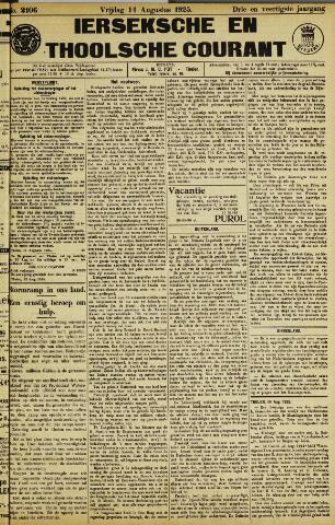 Ierseksche en Thoolsche Courant 1925-08-14