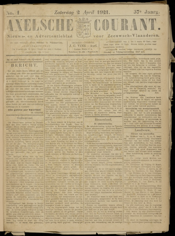 Axelsche Courant 1921-04-02