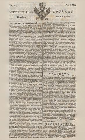 Middelburgsche Courant 1758-08-01
