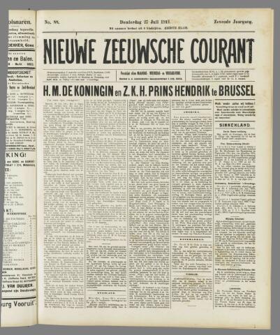 Nieuwe Zeeuwsche Courant 1911-07-27