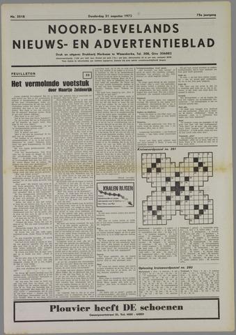 Noord-Bevelands Nieuws- en advertentieblad 1972-08-31