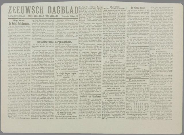Zeeuwsch Dagblad 1945-06-20