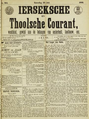 Ierseksche en Thoolsche Courant 1891-07-25