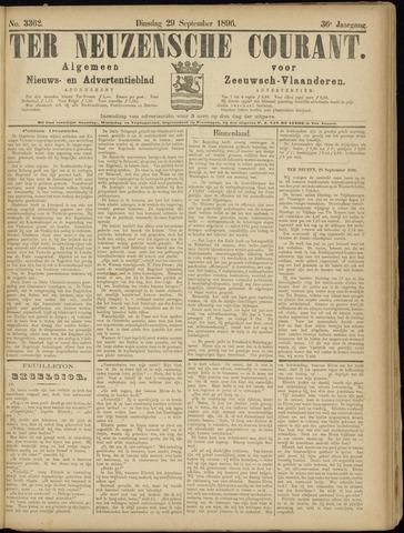 Ter Neuzensche Courant. Algemeen Nieuws- en Advertentieblad voor Zeeuwsch-Vlaanderen / Neuzensche Courant ... (idem) / (Algemeen) nieuws en advertentieblad voor Zeeuwsch-Vlaanderen 1896-09-29