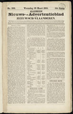 Ter Neuzensche Courant. Algemeen Nieuws- en Advertentieblad voor Zeeuwsch-Vlaanderen / Neuzensche Courant ... (idem) / (Algemeen) nieuws en advertentieblad voor Zeeuwsch-Vlaanderen 1865-03-29