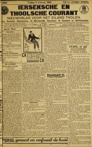 Ierseksche en Thoolsche Courant 1928-02-03
