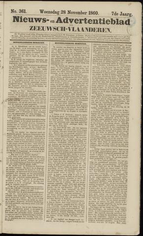 Ter Neuzensche Courant. Algemeen Nieuws- en Advertentieblad voor Zeeuwsch-Vlaanderen / Neuzensche Courant ... (idem) / (Algemeen) nieuws en advertentieblad voor Zeeuwsch-Vlaanderen 1860-11-28