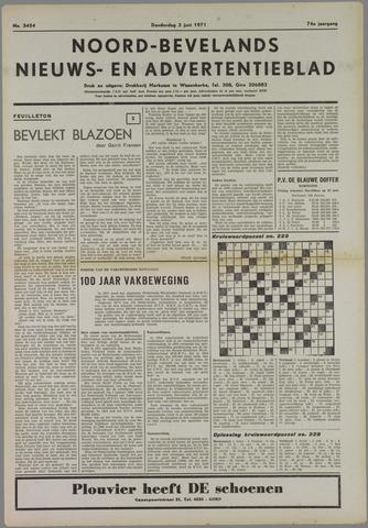 Noord-Bevelands Nieuws- en advertentieblad 1971-06-03