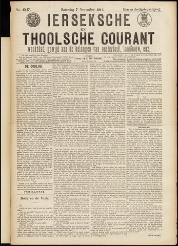 Ierseksche en Thoolsche Courant 1914-11-07