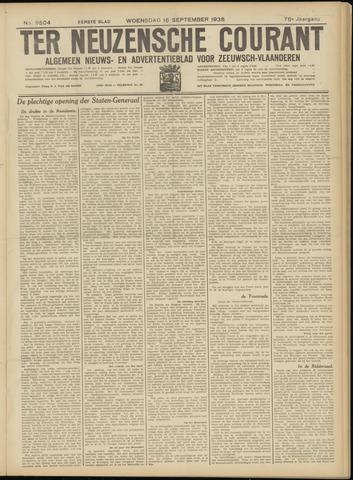 Ter Neuzensche Courant. Algemeen Nieuws- en Advertentieblad voor Zeeuwsch-Vlaanderen / Neuzensche Courant ... (idem) / (Algemeen) nieuws en advertentieblad voor Zeeuwsch-Vlaanderen 1936-09-16