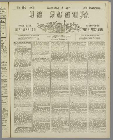 De Zeeuw. Christelijk-historisch nieuwsblad voor Zeeland 1912-04-03
