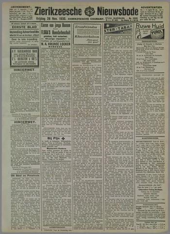 Zierikzeesche Nieuwsbode 1930-11-28