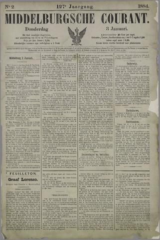 Middelburgsche Courant 1884