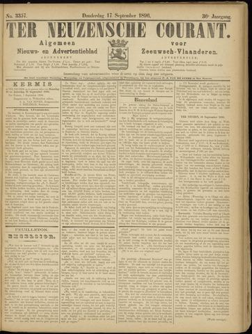 Ter Neuzensche Courant. Algemeen Nieuws- en Advertentieblad voor Zeeuwsch-Vlaanderen / Neuzensche Courant ... (idem) / (Algemeen) nieuws en advertentieblad voor Zeeuwsch-Vlaanderen 1896-09-17