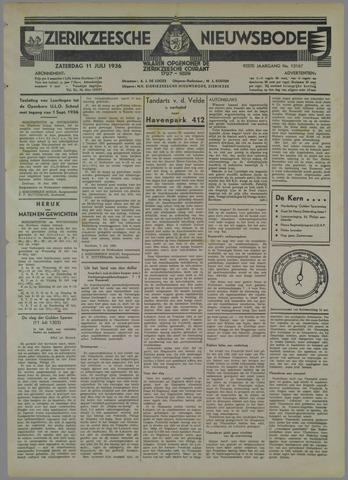 Zierikzeesche Nieuwsbode 1936-07-11