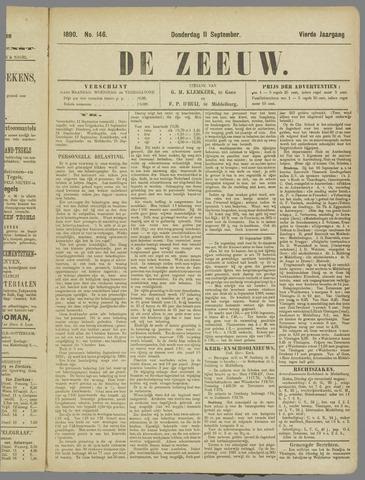 De Zeeuw. Christelijk-historisch nieuwsblad voor Zeeland 1890-09-11