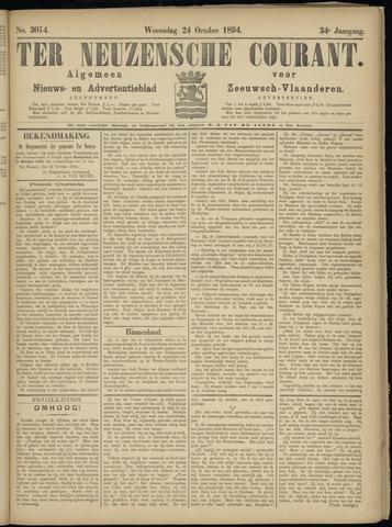 Ter Neuzensche Courant. Algemeen Nieuws- en Advertentieblad voor Zeeuwsch-Vlaanderen / Neuzensche Courant ... (idem) / (Algemeen) nieuws en advertentieblad voor Zeeuwsch-Vlaanderen 1894-10-24
