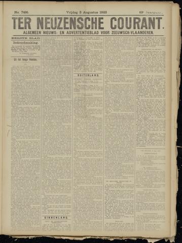 Ter Neuzensche Courant. Algemeen Nieuws- en Advertentieblad voor Zeeuwsch-Vlaanderen / Neuzensche Courant ... (idem) / (Algemeen) nieuws en advertentieblad voor Zeeuwsch-Vlaanderen 1923-08-03