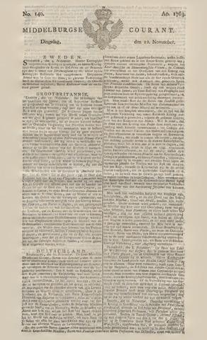 Middelburgsche Courant 1763-11-22