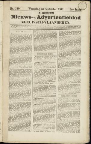 Ter Neuzensche Courant. Algemeen Nieuws- en Advertentieblad voor Zeeuwsch-Vlaanderen / Neuzensche Courant ... (idem) / (Algemeen) nieuws en advertentieblad voor Zeeuwsch-Vlaanderen 1865-09-13