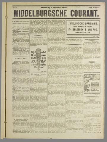 Middelburgsche Courant 1925-01-03