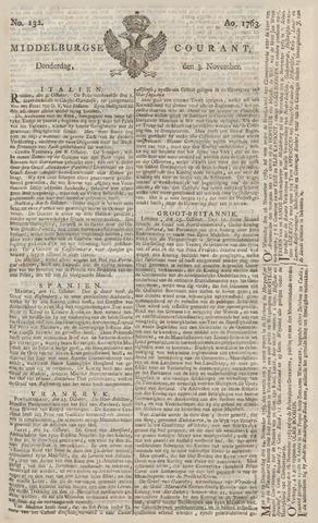 Middelburgsche Courant 1763-11-03