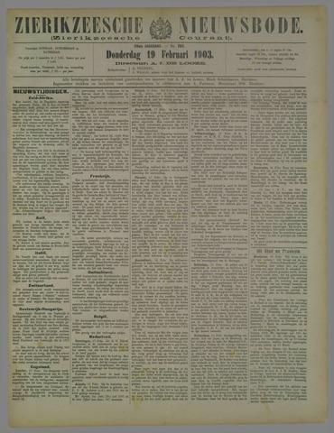 Zierikzeesche Nieuwsbode 1903-02-19