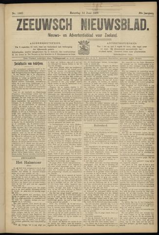 Ter Neuzensch Volksblad. Vrijzinnig nieuws- en advertentieblad voor Zeeuwsch- Vlaanderen / Zeeuwsch Nieuwsblad. Nieuws- en advertentieblad voor Zeeland 1919-06-14