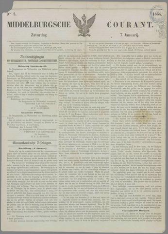 Middelburgsche Courant 1854-01-07
