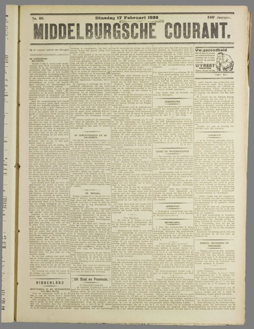 Middelburgsche Courant 1925-02-17