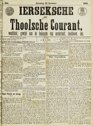 Ierseksche en Thoolsche Courant 1891-12-12