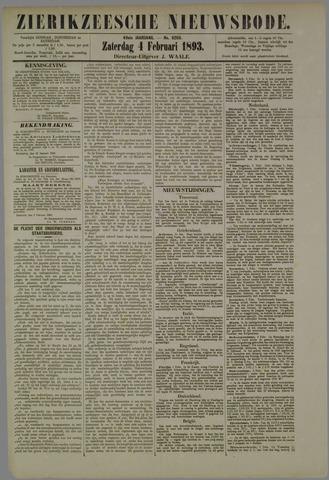 Zierikzeesche Nieuwsbode 1893-02-04