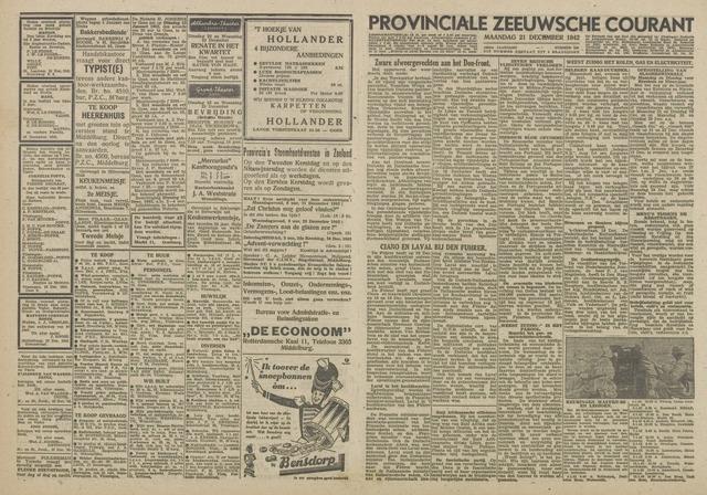Provinciale Zeeuwse Courant 1942-12-21