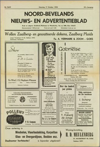 Noord-Bevelands Nieuws- en advertentieblad 1953-10-17