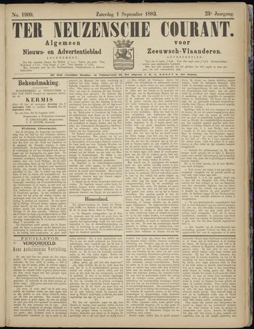 Ter Neuzensche Courant. Algemeen Nieuws- en Advertentieblad voor Zeeuwsch-Vlaanderen / Neuzensche Courant ... (idem) / (Algemeen) nieuws en advertentieblad voor Zeeuwsch-Vlaanderen 1883-09-01