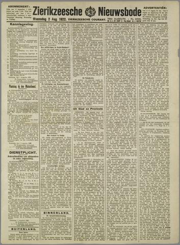 Zierikzeesche Nieuwsbode 1922-08-02