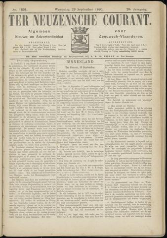 Ter Neuzensche Courant. Algemeen Nieuws- en Advertentieblad voor Zeeuwsch-Vlaanderen / Neuzensche Courant ... (idem) / (Algemeen) nieuws en advertentieblad voor Zeeuwsch-Vlaanderen 1880-09-29