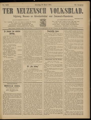 Ter Neuzensch Volksblad. Vrijzinnig nieuws- en advertentieblad voor Zeeuwsch- Vlaanderen / Zeeuwsch Nieuwsblad. Nieuws- en advertentieblad voor Zeeland 1914-03-28