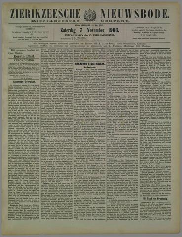 Zierikzeesche Nieuwsbode 1903-11-07