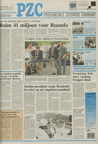 Provinciale Zeeuwse Courant 1994-08-08