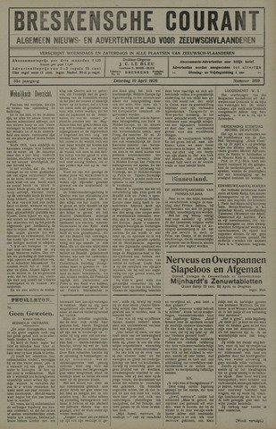 Breskensche Courant 1926-04-10