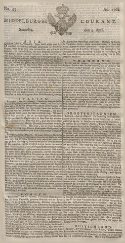 Middelburgsche Courant 1768-04-09