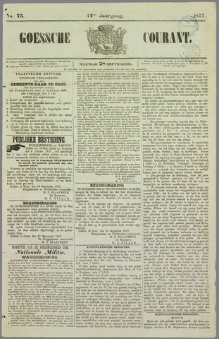 Goessche Courant 1857-09-28